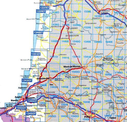Carte Géographique Détaillée Des Landes | My blog