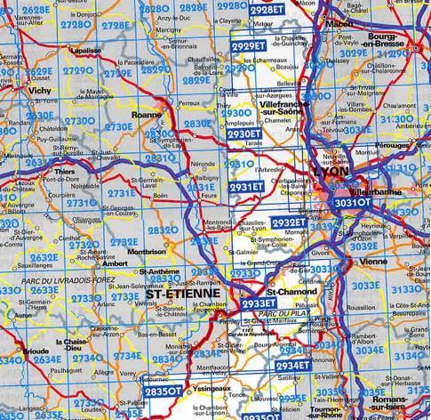 Carte routi re loire carte routi re et touristique loire for 42 haute loire